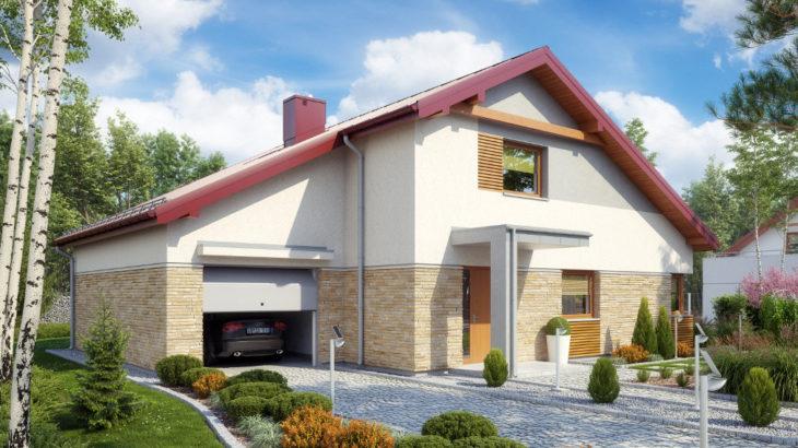 Проект мансардного дома с террасой и гаражом S75 - фото №4