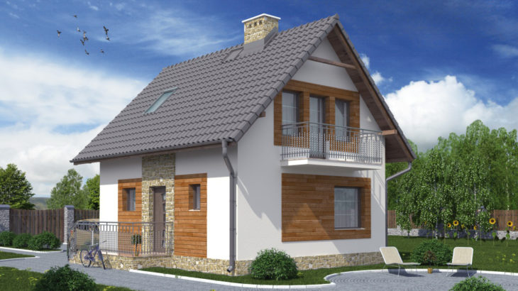 Проект мансардного дома S76 - фото №2