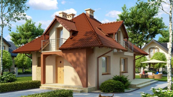Проект мансардного дома с террасой S77 - фото №3