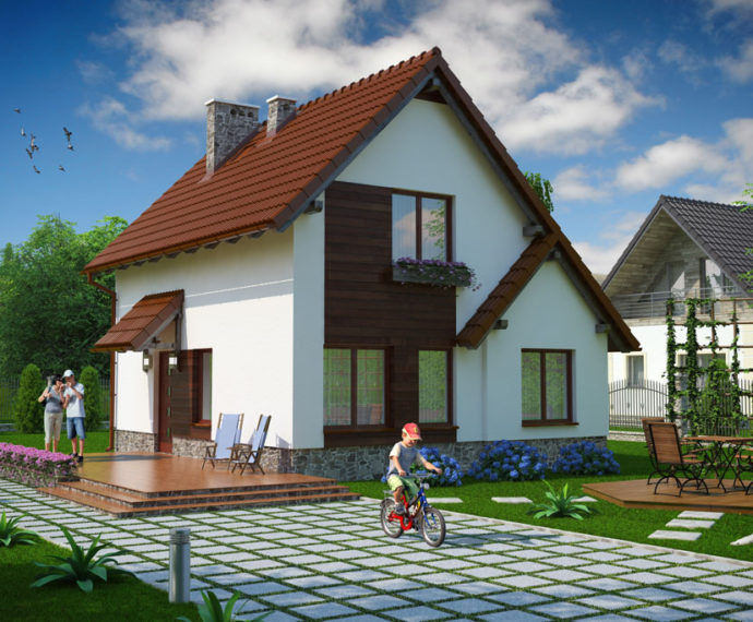 Проект мансардного дома S78 - фото №1