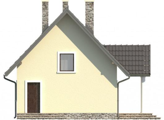 Фасад мансардного дома S79 - вид слева