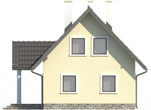 Фасад мансардного дома S79 - вид справа
