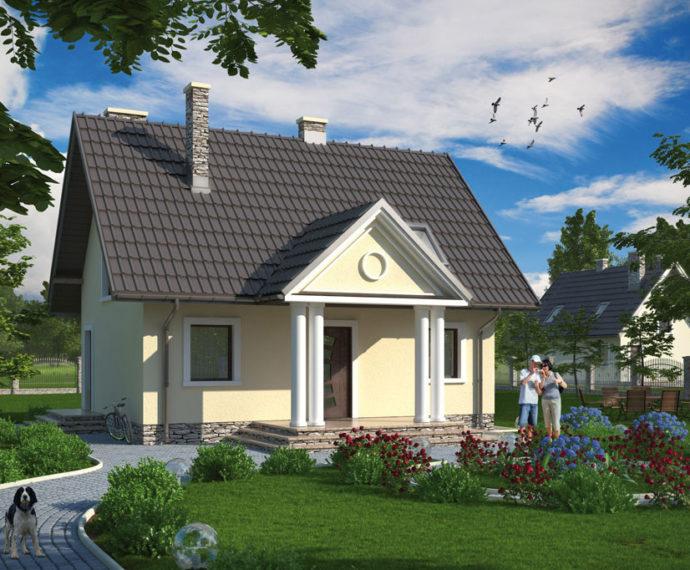 Проект мансардного дома S79 - фото №1