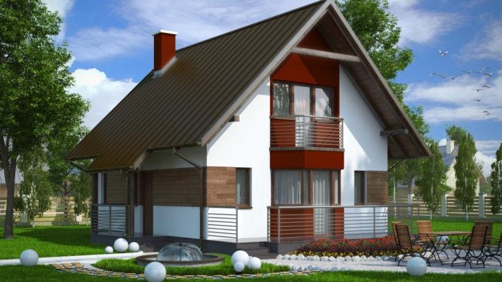 Проект мансардного дома с террасой S80 - фото №2