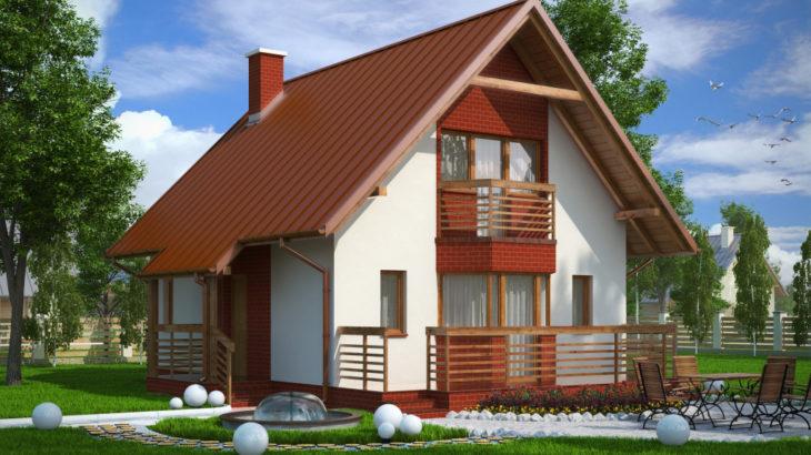 Проект мансардного дома с террасой S80 - фото №3