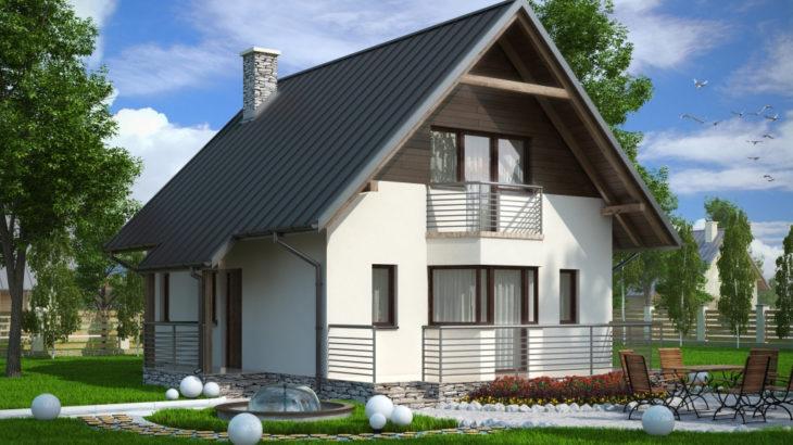 Проект мансардного дома с террасой S80 - фото №4