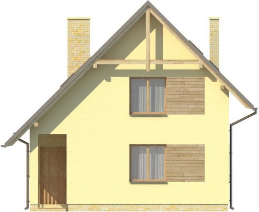Фасад мансардного дом S81 - вид спереди