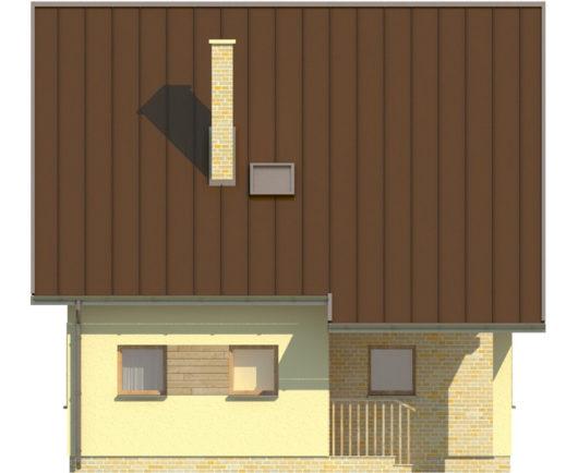 Фасад мансардного дом S81 - вид слева