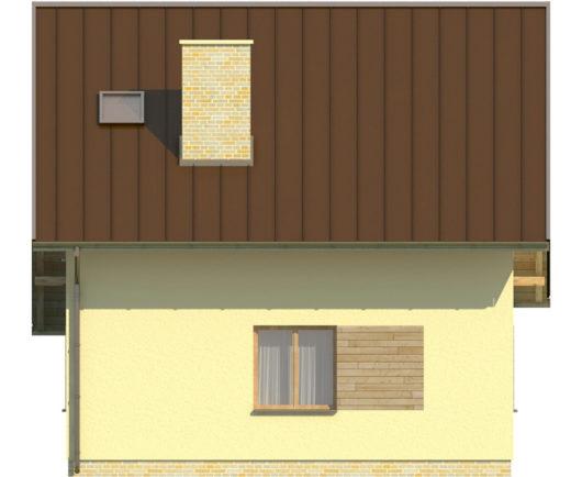 Фасад мансардного дом S81 - вид справа