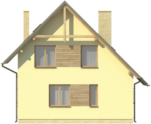 Фасад мансардного дом S81 - вид сзади