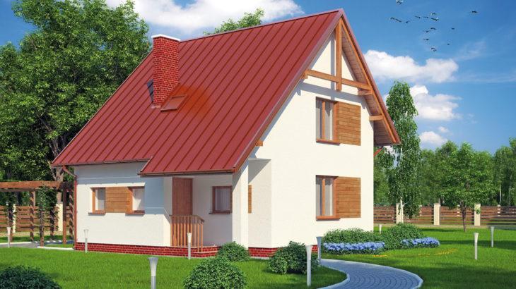 Проект мансардного дом S81 - фото №2