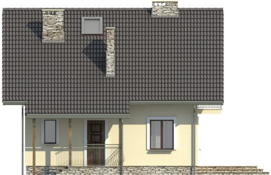 Фасад мансардного дома S82 - вид спереди