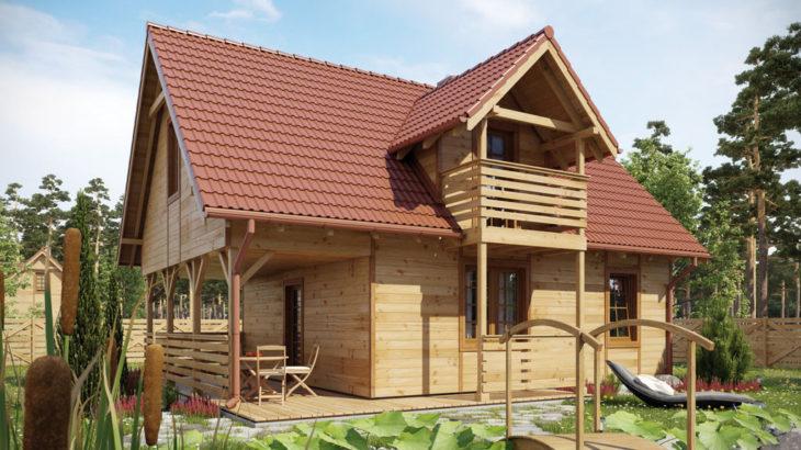 Проект мансардного дома с террасой S83 - фото №2