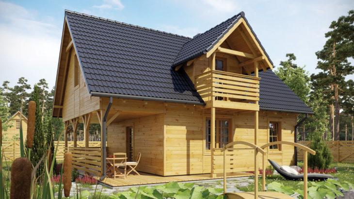 Проект мансардного дома с террасой S83 - фото №4