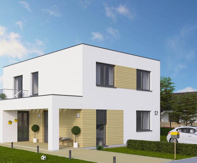 Проект двухэтажного дома с террасой V33 - фото №1