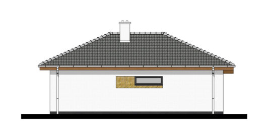 Фасад одноэтажного дома с террасой P105 - вид справа