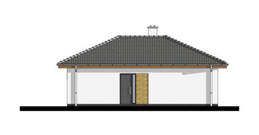 Фасад одноэтажного дома с террасой P105 - вид слева