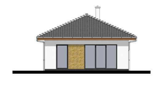 Фасад одноэтажного дома с террасой P105 - вид сзади