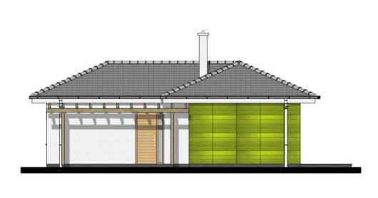 Фасад одноэтажного дома с террасой P114 - вид слева