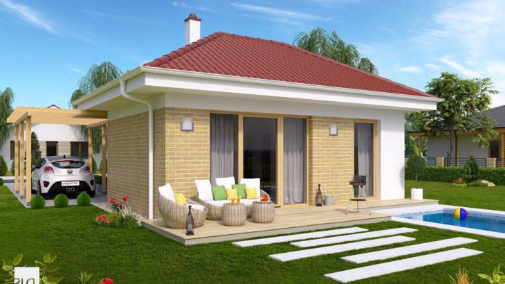 Проект одноэтажного дома с террасой P114 - фото №2