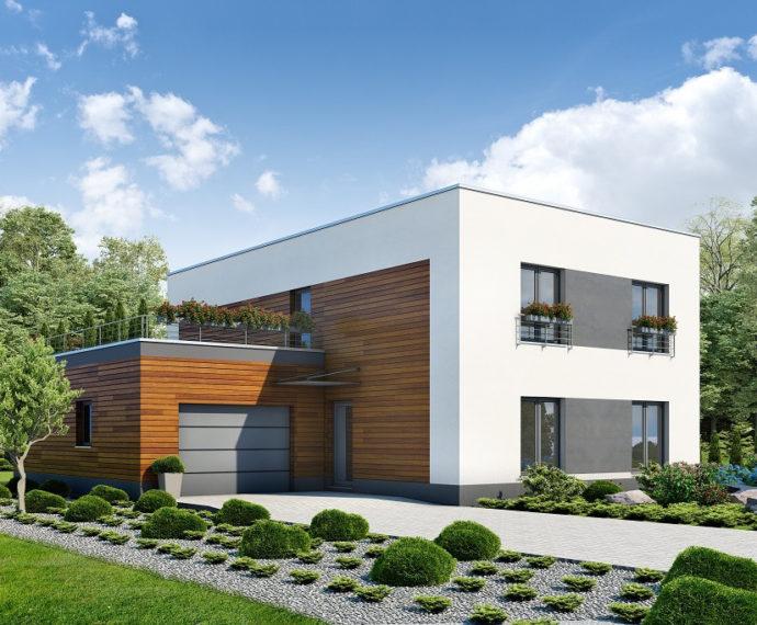 Проект двухэтажного дома с гаражом V34 - фото №2
